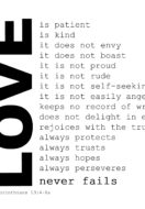 Love Wins (1 Cor. 13:8)