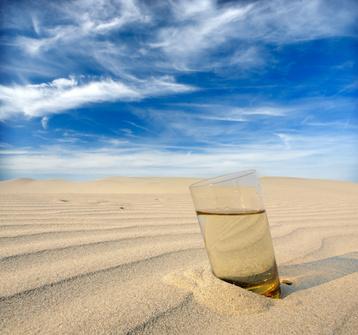 Waterglass-desert